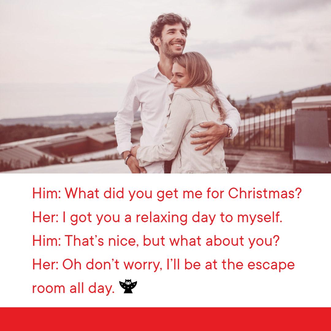 escape room meme for holiday hour blog